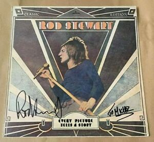 ROD STEWART   -  EVERY PICTURE TELLS   - UK  LP SIGNED - AUTHENTIC ROD   - UACC