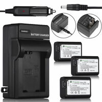 NP-FW50 Batteries & Charger for Sony NEX-6 NEX-5 NEX-3N A6000 A5000 A33 A55 A7