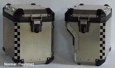 BMW R1200GS 2014+ Adventure Saddlebag Corner Reflective Tape kit BLACK Checkers