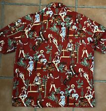 Vintage Paradise On A Hanger Red Western Rodeo Cowgirls Cactus Shirt 3XL