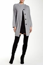 NEW Thomas Wylde Wool Blend Petrol Sweater Coat- grey L $625