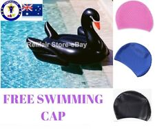 Giant Inflatable Black Swan Pool Float-Free Gift->Swimming Cap~Aussie Floaties