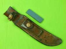 Vintage US Heiser Leather Sheath Scabbard Stone Randall Hunting Fighting Knife
