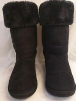 🌻FAUX FUR & SUEDE EFFECT BOOTS BY CHIX SIZE 6, WINTER, COMFY,