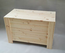 Extra Large Wooden Storage Box Chest Plain Wood Boxes Lid Garage Tools Keeping