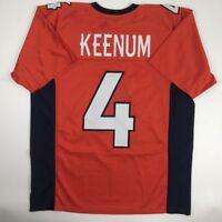 New CASE KEENUM Denver Orange Custom Stitched Football Jersey Size Men's XL