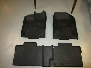 WeatherTech FloorLiner Floor Mats for Ford Edge Lincoln MKX  2007-2010 Black