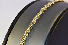 "14k Gold Beaded Design Bracelet 7.5"" Dazzling"