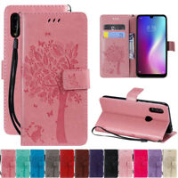 For Xiaomi Redmi 7 Note 7 Pro Tree&Cat Leather Flip Wallet Card Stand Case Cover