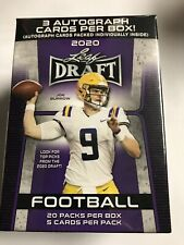 Leaf 2020 Draft Football Blaster Box Trading with 3 Autographs - 5 Cards (20 Pack)
