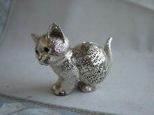 Schöne Christofle Figur als Katze, versilbert