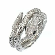 Crystal Snake Bracelets Vintage Wristband Cuff Bangles Women Jewelry Pulseira