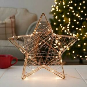Battery Firefly LED Christmas Silhouette | Festive Window Table Decoration