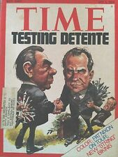 VINTAGE TIME MAGAZINE JULY 1 1974 TESTING DETENTE ON COVER W/LABEL