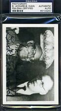 BOWIE KUHN BUCK LEONARD SIGNED PSA/DNA CERTIFIED PHOTO AUTOGRAPH AUTHENTIC