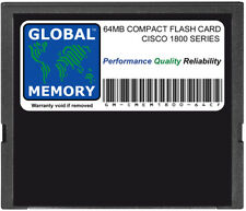 64MB Tarjeta de memoria Flash compacta para Cisco 1800 Series Routers (MEM1800-64CF)
