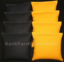 All Weather CORNHOLE BEAN BAGS Steelers Black & Yellow Filled w Resin Pellets