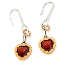 New Rebecca 6.28ctw Hydro Garnet Heart Earrings