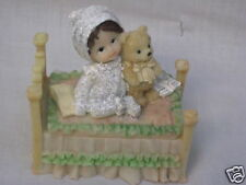 "Baby Keepsake Box Beautiful Well Made Features Child with Teddy Bear ""Free S&H"""