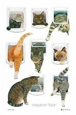 """Heads or Tails"" Cat Tea Towel - McCaw Allan (NEW)"