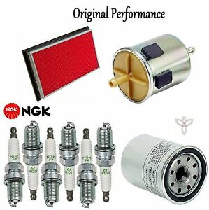 Tune Up Kit Air Oil Fuel Filters Spark Plugs for Infiniti I30 V6; 3.0L 1996-1999