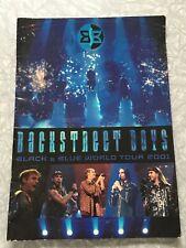 Backstreet Boys Black & Blue World Tour 2001 Program Boy Band Pop BSB + Bonus!
