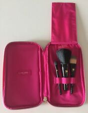 LANCOME 3 Pcs Brush Pouch Set Foundation, Powder, Eyeshadow Brushes BRAND NEW