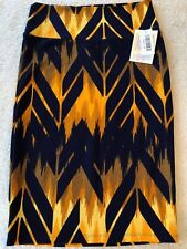 *NEW* LuLaRoe Cassie Pencil Skirt Navy/Golden Arrow Print Size XS