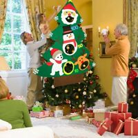 Christmas Toss Games with 3Pcs Snowballs DIY Felt Christmas Tree New Year G W6L7