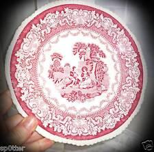 Vintage antique Watteau Transfer Plate Woods Burslem England1784 Enoch 1750