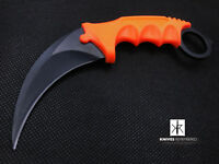 CS GO TACTICAL KARAMBIT KNIFE Survival Hunting BOWIE Fixed Blade ABS Handle OR