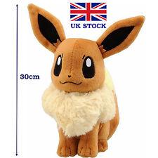 Pokemon Eevee Plush Doll Anime Figure Cosplay 30cm 12inch Teddy - UK STOCK !!!