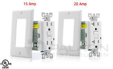 15A / 20A AMP Tamper Resistant GFCI Safety Outlet Receptacle TR UL Listed White