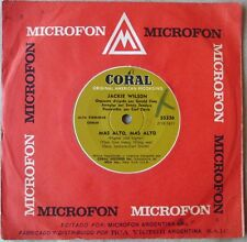 """JACKIE WILSON 7"""" PROMO Higher And Higher TOP Rare FOREING Ed. 1967 Spanish Title"""