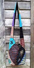 Vtg DISTRESSED Patchwork HIPPIE Boho COTTON Quilted CROSSBODY SLING Shoulder Bag