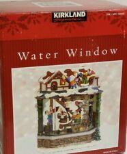 Kirkland Musical Water Window Snow Globe Santa Elves Toy WorkShop Blower Lights