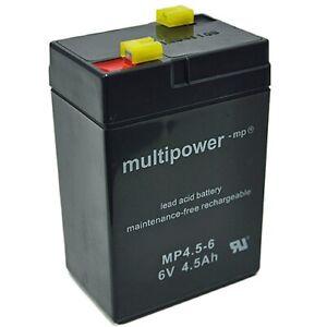 Multipower MP4.5-6 6V 4,5Ah AGM (VRLA)