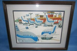 Framed Eastern Airlines Print by Alex Black  ... planes are comically stubby