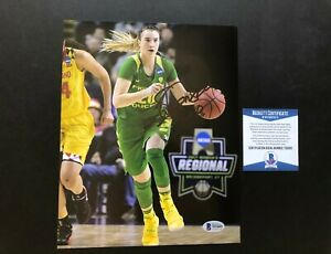 Sabrina Ionescu Hot! signed autographed Ducks Liberty 8x10 photo Beckett BAS coa