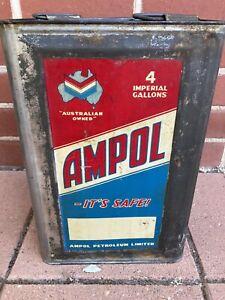 Ampol Oil Tin  Excellent Condition
