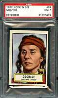 1952 TOPPS LOOK AND SEE #59 COCHISE PSA 7  *DS7376