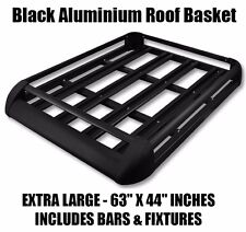 160cm Universal Aluminum Car Roof Rack Basket Cargo Luggage Carrier Bar BLACK