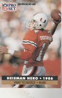 FREE SHIPPING-MINT-1991 Pro Set  #41 Vinny Testaverde HEISMAN HERO 1986