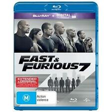 FAST AND FURIOUS 7 (Blu-ray, 2015) NEW 100 MIN EXTRA FOOTAGE BLU-RAY EXCLUSIVE