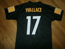 a181f7f35 PITTSBURGH STEELERS MIKE WALLACE 17 JERSEY Football NFL Black YOUTH MEDIUM  10-12