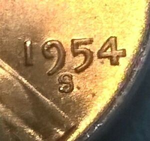 1954-S Lincoln Cent  S/S   ANACS MS64RD   RPM-10