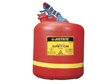 Type1 19 Litre Justrite Round Poly Can for Corrosive/Acids flammables -14561