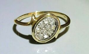 14K Yellow Gold and Pave set with White Gold Vintage Diamond Ring