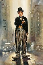 Poster Kunstdruck LICHTER DER GROßSTADT Casaro Charlie Chaplin Deko Bild 62x93