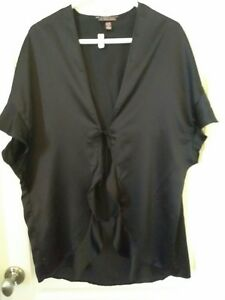 Victoria's Secret Black Cover Up Robe One Size *N375
